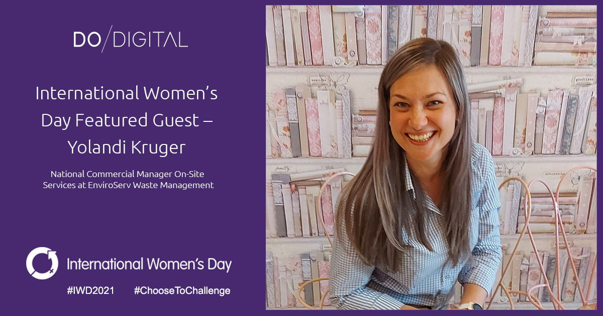 Do Digital's International Women's Day Featured Guest – Yolandi Kruger, EnviroServ Waste Management